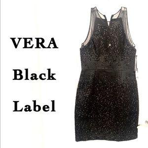 NWT VERA Wang Black Label Sequin Sleeveless Dress